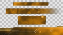 Ecological Lower Thirds. Orange Stock Footage