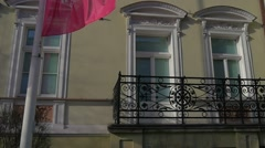 Saint Valentine's Day Opole Poland Old Building Panorama of Ozimska Street Near Stock Footage