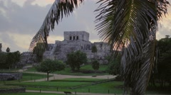 Tulum mayan site sunrise Stock Footage