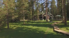 House in the woods - stock footage