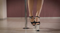Dancer on the pole Stock Footage
