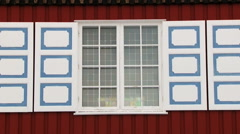 Church building facade in the arctic town of Longyearbyen, Norway. Stock Footage