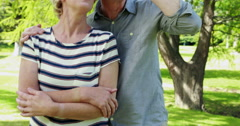 Senior couple in the park Stock Footage