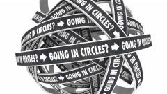 Going in Circles Endless Cycle Repetitive Loop Animation Stock Footage