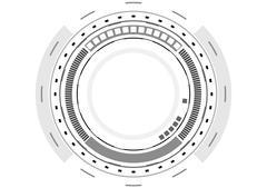 Grey technology futuristic HUD interface Piirros