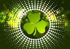 Green shamrock clover St. Patrick Day - stock illustration