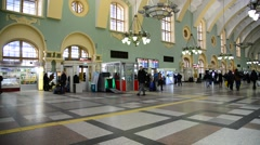 MOSCOW, RUSSIA - The interior of the Kazansky railway Stock Footage
