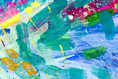 Brush strokes of different colors on a canvas Stock Illustration