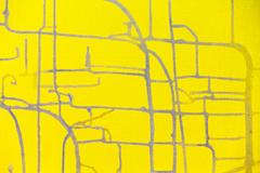 drips of paint on yellow canvas background - stock illustration