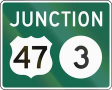 United States MUTCD guide road sign - Junction Stock Illustration