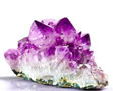 gem  stone amethyst - stock photo