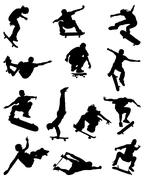 Skate jumpers Stock Illustration