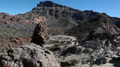 Teno massif, Teide National Park. Roque Garcia, Tenerife, Canary islands, Spain Stock Footage