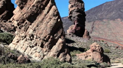 The Roque Cinchado is a unique rock formation and emblematic of Tenerife island Stock Footage