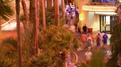Flamingo Hotel Sidewalk Stock Footage
