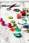 Set of tools needlework Stock Photos