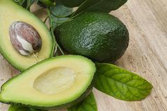 Green fresh avocado - stock photo