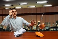 Stock Photo of Businessman with magic