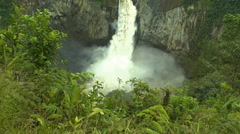 The Endangered San Rafael Waterfall in Ecuador in its Prime Stock Footage