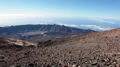 One of the world's most magnificent landscapes viewed from Teide mount, Tenerife Stock Footage