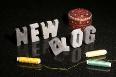 Launching a new fashion or design or sewing blog blog - stock photo