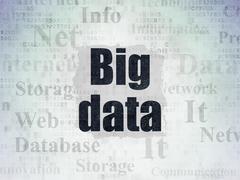 Data concept: Big Data on Digital Paper background - stock illustration