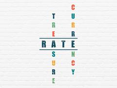 Money concept: Rate in Crossword Puzzle - stock illustration
