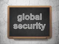 Safety concept: Global Security on chalkboard background Piirros
