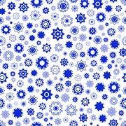 blue star vector seamless pattern.Star background - stock illustration