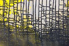 black paint leak drips grid frame - stock illustration
