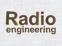 Stock Illustration of Science concept: Radio Engineering on fabric texture background