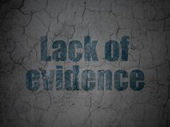Law concept: Lack Of Evidence on grunge wall background Stock Illustration
