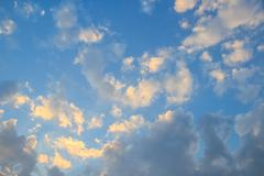 Stock Photo of White clouds with blue sky background