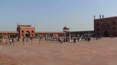 Courtyard of Jama Masjid, Delhi Stock Footage