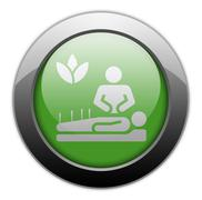 Icon, Button, Pictogram Alternative Medicine - stock illustration