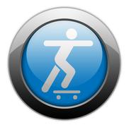 Icon, Button, Pictogram Skateboarding - stock illustration