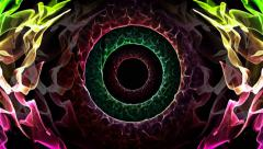 Abstract colorful light trance or worm hole for screen saver hypnotizing therapy Stock Footage