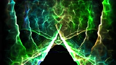Abstract electrical nervous system in brain with colorful light sparking wave 4k - stock footage