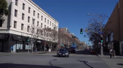 Downtown Santa Monica Establishing Shot - stock footage