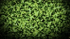 Abstract spangle optic green flood lights pattern glowing background loop - stock footage