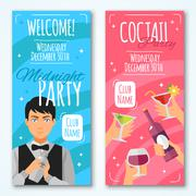 Cocktail Invitations Design Set - stock illustration