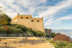 Palamidi castle at Nafplio in Greece landscape. Stock Photos