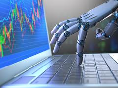 Stock Market Robot Trading Stock Illustration