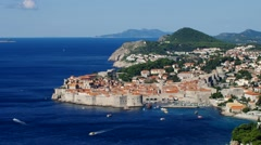 The town Dubrovnik in Croatia Stock Footage