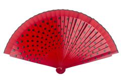 Red dotted fan - stock photo