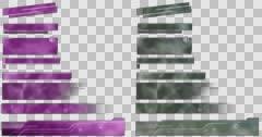 Eco Lower Thirds. Purple, Grey. 4K Stock Footage