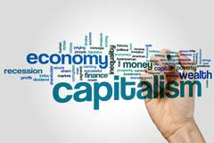 Capitalism word cloud Stock Photos