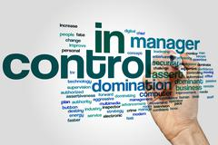 In control word cloud - stock photo