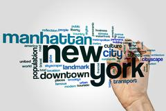 New York word cloud - stock photo