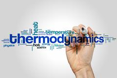 Thermodynamics word cloud Stock Photos